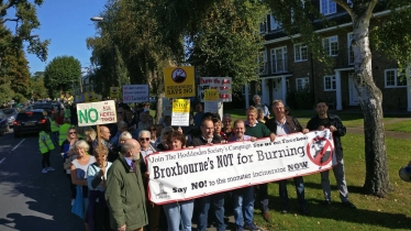 march against the incinerator